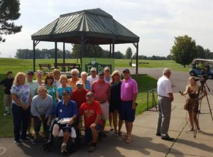 Quite a few folks came out to celebrate Ely Park on a beautiful sunny morning!