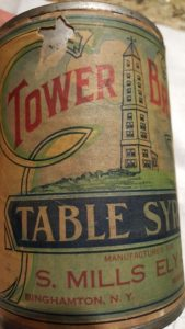 Tower Brand table syrup distributed by Mr. Ely features the Ely Tower!