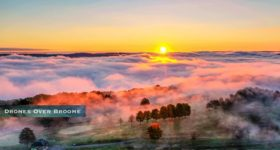 "Ely Park Fall & Foggy; Courtesy & Credit to ""Drones Over Broome!"""